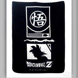 Dragon Ball Z Black and White Fleece Blanket
